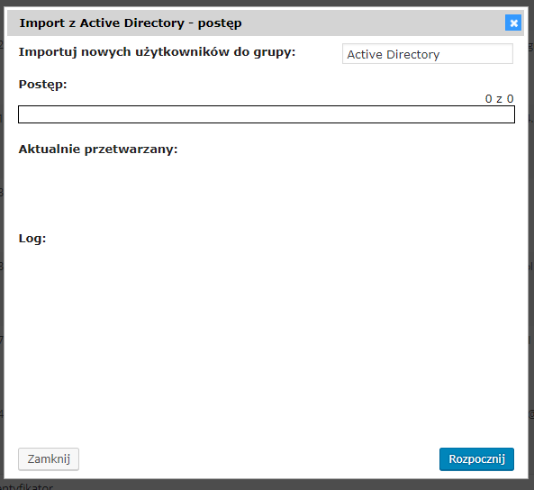integracja import active directory